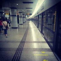 Photo taken at Shanghai Indoor Stadium Metro Stn. by Daniel Q. on 6/14/2012