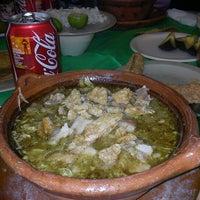 Photo taken at Casa Tixtla Pozoleria by Martha C. on 4/23/2012
