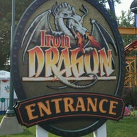 Photo taken at Iron Dragon by JP on 7/17/2012