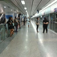 Photo taken at MRT Si Lom (SIL) by Pongsthorn R. on 6/16/2012