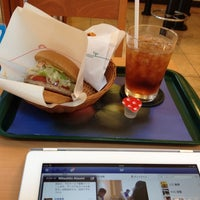 Photo taken at MOS Burger by Shinri S. on 7/30/2012