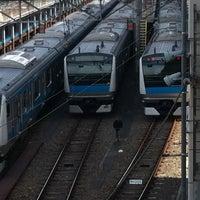Photo taken at Higashi-Jujo Station by Kazuko T. on 4/7/2012