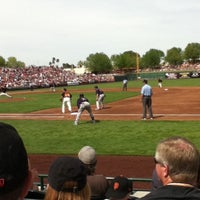 Photo taken at Scottsdale Stadium by Noele R. on 3/24/2012