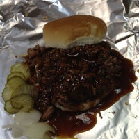 Photo taken at Burns Orginal BBQ Est. 1973 by Micah M. on 3/15/2012