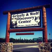 Photo taken at Grizzly & Wolf Discovery Center by Sandra G. on 7/30/2012