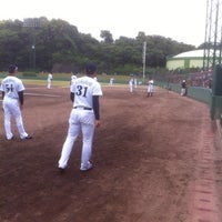 Photo taken at 蒲郡野球場 by Takamasa S. on 5/20/2012