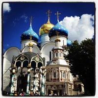 Photo taken at The Holy Trinity-St. Sergius Lavra by Anna S. on 8/19/2012