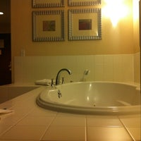 Photo taken at Holiday Inn Express & Suites Hagerstown by Dominique R. on 2/11/2012