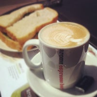 Photo taken at Aroma Espresso Bar by Ste H. on 5/17/2012