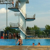 Photo taken at Penn State Outdoor Pool by Brianna M. on 7/4/2012