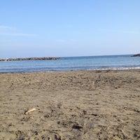 Photo taken at Spiaggia Santo Stefano Al Mare by AdvanxeDesign G. on 6/23/2012