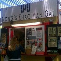 Photo taken at Nong's Khao Man Gai by Eli T. on 6/5/2012