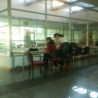 Photo taken at Biblioteca Andrónico Luksic A. by Pamela T. on 4/5/2012
