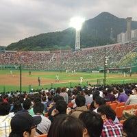 Photo taken at Sajik Baseball Stadium by Dawoon L. on 5/30/2012
