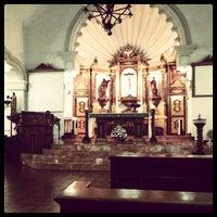 Photo taken at St. Jerome Emiliani & Sta. Susana Parish by JaVee F. on 8/30/2012