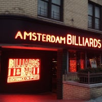 Photo taken at Amsterdam Billiards & Bar by JimL K. on 7/25/2012