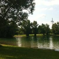 Photo taken at Feringasee FKK by simone p. on 6/23/2012