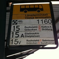 Photo taken at HSL 1160 Länsiterminaali by yuki d. on 7/24/2012