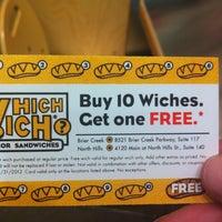 Photo taken at Which Wich? Superior Sandwiches by Regina T. on 5/16/2012