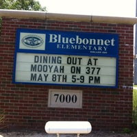 Photo taken at Bluebonnet Elementary by Jeana A. on 5/8/2012