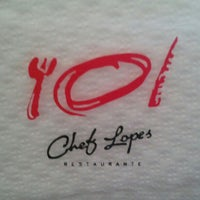 Photo taken at Chef Lopes Restaurante by Ismael A. on 8/31/2012