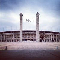 Photo taken at Olympiastadion by Leo G. on 4/25/2012