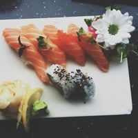 Photo taken at Akki Sushi by Louise P. on 8/21/2012