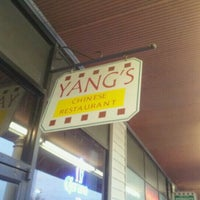 Photo taken at Yang's Chinese Restaurant by Adam J. on 4/13/2012