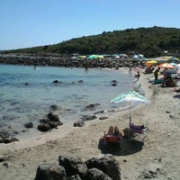 Photo taken at Spiaggia Di Punta Nera by Cristiano P. on 8/21/2012