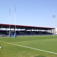Photo taken at Matmut Stadium by LOU Rugby R. on 3/24/2012