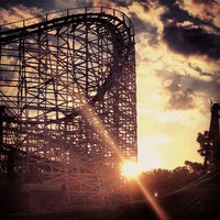 Photo taken at Six Flags New England by Chelsea R. on 8/26/2012