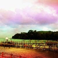 Photo taken at Pantai Barat Pangandaran by Hilarinus W. on 3/23/2012