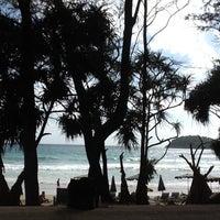 Photo taken at Kata Beach by Diao T. on 8/5/2012