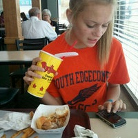 Photo taken at Bojangles' Famous Chicken 'n Biscuits by Megan N. on 4/15/2012