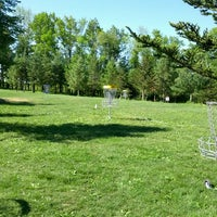 Photo taken at Marshall Street Pyramids Disc Golf Course by Zach S. on 5/19/2012