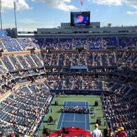 Photo taken at Arthur Ashe Stadium - USTA Billie Jean King National Tennis Center by Cody B. on 9/9/2012