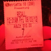 Photo taken at Regal Cinemas Henrietta 18 by Anthony W. on 8/3/2012