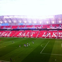 Photo taken at Rio Tinto Stadium by John Y. on 8/22/2012