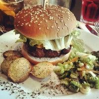 Photo taken at Rachel - Bagels & Burgers by Grisha on 5/12/2012