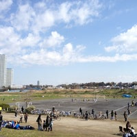 Photo taken at 北見方グラウンド by futo_pyong on 4/1/2012