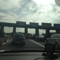 Photo taken at I-90 Weston Toll Plaza from / to I-95 (Exit 14) by Paul P. on 7/19/2012