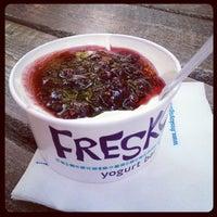 Photo taken at Fresko Yogurt Bar by Pamela G. on 6/26/2012