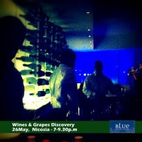 Photo taken at Blue Wine Bar by Cyprus Wines on 5/15/2012