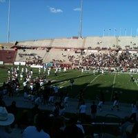 Photo taken at Aggie Memorial Stadium by Mike D. on 8/31/2012