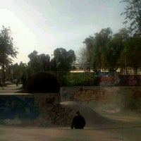 Photo taken at Skatepark Parque O'Higgins by Nicolás V. on 8/12/2012