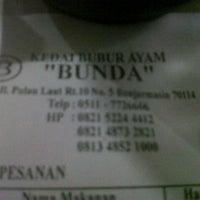 """Photo taken at Kedai Bubur Ayam """"Bunda"""" by نوفريزال ا. on 8/6/2012"""