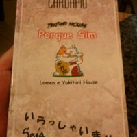 Photo taken at Porque Sim - Yakitori House by Anderson S. on 3/2/2012