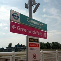 Photo taken at Greenwich DLR Station by Ben Q. on 8/11/2012