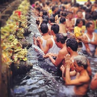 Photo taken at Pura Tirta Empul (Tirta Empul Temple) by Duncan C. on 8/2/2012