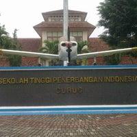 Photo taken at Sekolah Tinggi Penerbangan Indonesia (STPI) by Kusna W. on 9/4/2012